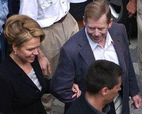 Вацлав Гавел и его супруга Дагмар (Фото: ЧТК)