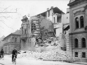 Nach dem Bombenangriff auf Budweis (Foto: Archiv des Südböhmischen Museums)