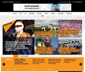 Чешская версия сайта Sputnik