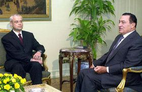 Владимир Шпидла и Хосни Мубарак, фото: ЧТК
