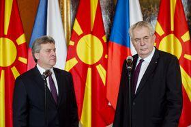 Президент Республики Македония Георге Иванов и президент Чешской Республики Милош Земан, Фото: ЧТК