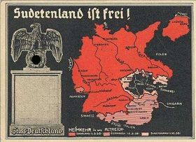 Немецкий плакат: гитлеровская Германия, Австрия и Судеты