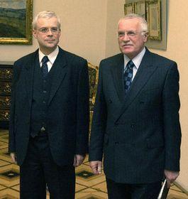 Премьер-министр Владимир Шпидла и президент Вацлав Клаус (Фото: ЧТК)