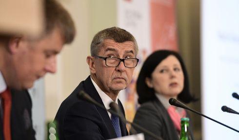 Tomáš Petříček, Andrej Babiš, Věra Jourová, photo: ČTK/Roman Vondrouš