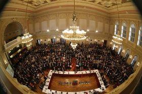 Зал дворца Жофин, фото: официальный сайт конференции Форум-2000