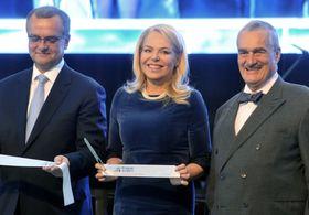 Miroslav Kalousek, Dagmar Havlová, Karel Schwarzenberg, photo: CTK