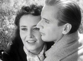 Lída Baarová con Svatopluk Beneš en la película 'Verano de fuego' ('Ohnivé léto') (1938), foto: ČT