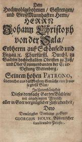 Georgius Holyk - Drteyfaches Garten (1693), zdroj: Sachsische Landesbibliothek