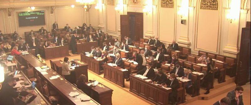 Jednání poslanecké sněmovny opříspěvcích pro živnostníky, foto: ČT24