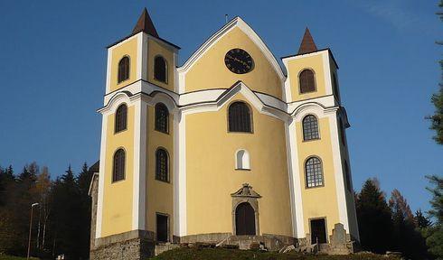 Kostel Nanebevzetí Panny Marie v Neratově, foto: Zdenka Burešová, archiv ČRo
