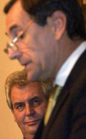 Milos Zeman and Ramiro Cibrian, photo: CTK