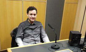 Robert Ferrer en Radio Praga, foto: Enrique Molina