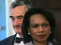 Condoleeza Riceová a Karel Schwarzenberg, foto: ČTK