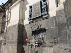 Pamětní deska na pravoslavném chrámu Cyrila a Metoděje, foto: Ondřej Tomšů