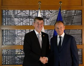 Andrej Babiš, Donald Tusk, photo: CTK