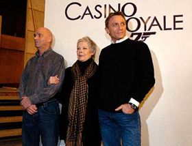 Martin Campbell, Judi Dench and Daniel Craig, photo: CTK