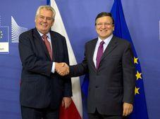 Miloš Zeman, José Manuel Barroso, photo: CTK