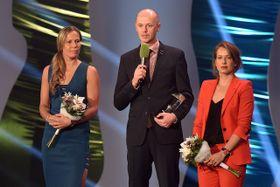 Lucie Hradecká, Petr Pála, Barbora Strýcová, photo: Filip Jandourek, ČRo