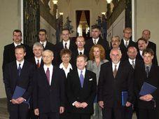 Václav Havel con el nuevo Gobierno, foto: CTK