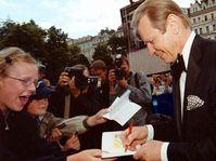Майкл Йорк в Карловых Варах, фото ЧТК