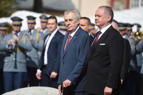 Miloš Zeman aAndrej Kiska, foto: ČTK