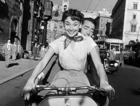 Audrey Hepburn in 'Roman holiday'