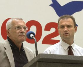 Civic Democrats leader Vaclav Klaus and Ivan Langer, photo: CTK
