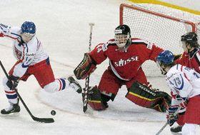La selección de hockey checa derrotó a Suiza (Foto: CTK)