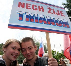 Marsch in Komárno zum Gedenken an den Trianon-Vertrag (Foto: ČTK)