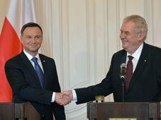 Andrzej Duda y Miloš Zeman, foto: ČTK