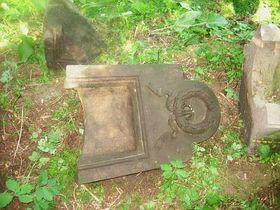 Many gravestones have been vandalised