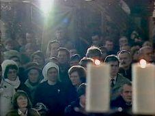 La messe célébrée par le cardinal Tomášek le 29 décembre, 1989, photo: YouTube
