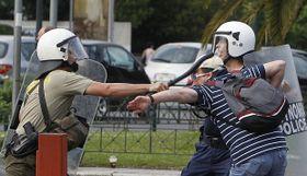 La huelga en Grecia, foto: ČTK