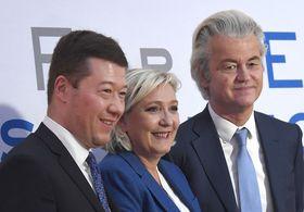 Tomio Okamura, Marine Le Pen, Geert Wilders, photo: CTK
