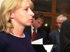 Hana Marvanová, Stanislav Gross y Vladimír Spidla, foto: CTK
