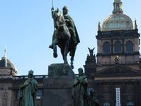 The statue of Saint Wenceslas