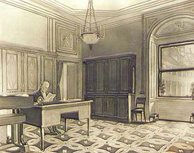 Francisco I en su despacho