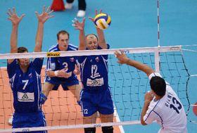 Los voleibolistas checos e italianos, foto: CTK