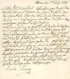 Brief von Maria Theresia (Foto: Österreichisches Staatsarchiv)
