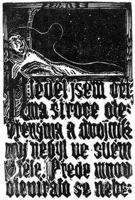 Josef Váchal, La vision des sept jours et planètes