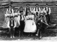 Hochzeit in Zálesí um 1925 (Foto: Archiv des Museums des südöstlichen Mährens in Zlín / MJVM)