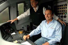Emerson Fittipaldi driving a Pendolino, photo: CTK