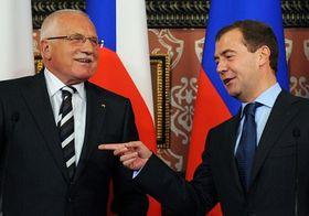 Václav Klaus y Dmitri Medvédev, foto: ČTK