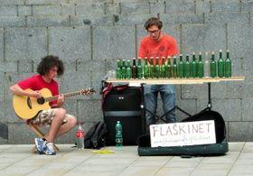 Flaškinet, foto: presentación oficial de Busker Fest (2015)