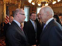 Bohuslav Sobotka et Joe Biden, photo: ČTK