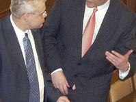 Vladimir Spidla con Cyril Svoboda (por la derecha), foto: CTK