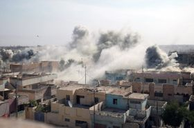 Aftermath of an air strike during the Second Battle of Fallujah, photo: Public Domain