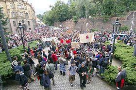 Los protestas contra los métodos policiales continúan (Foto: CTK)