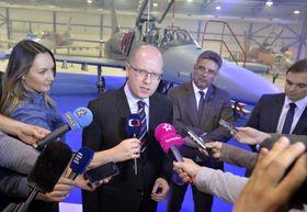 Bohuslav Sobotka visits Aero Vodochody, photo: CTK