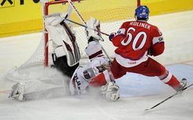 Tomáš Rolinek scores, photo: CTK